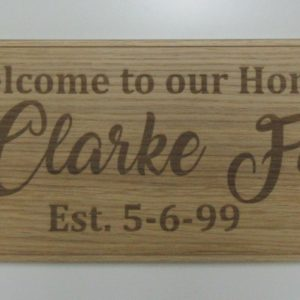 Personalised Family Welcome Sign - Wee County Trophies