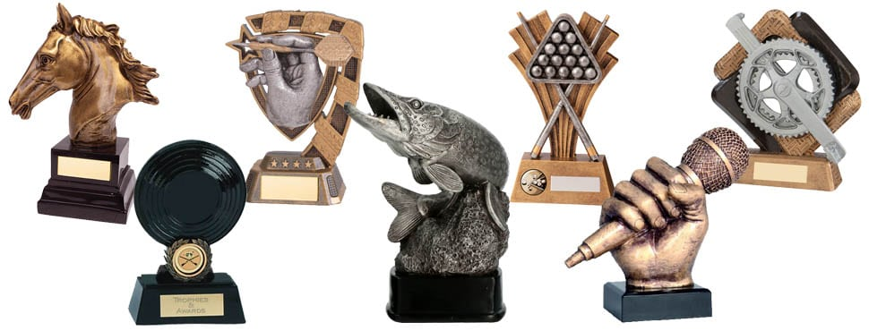 Cycling, horseriding, fishing, darts, snooker and karaoke awards and trophies