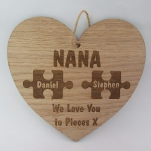 Personalised Wooden Heart - We love you to pieces
