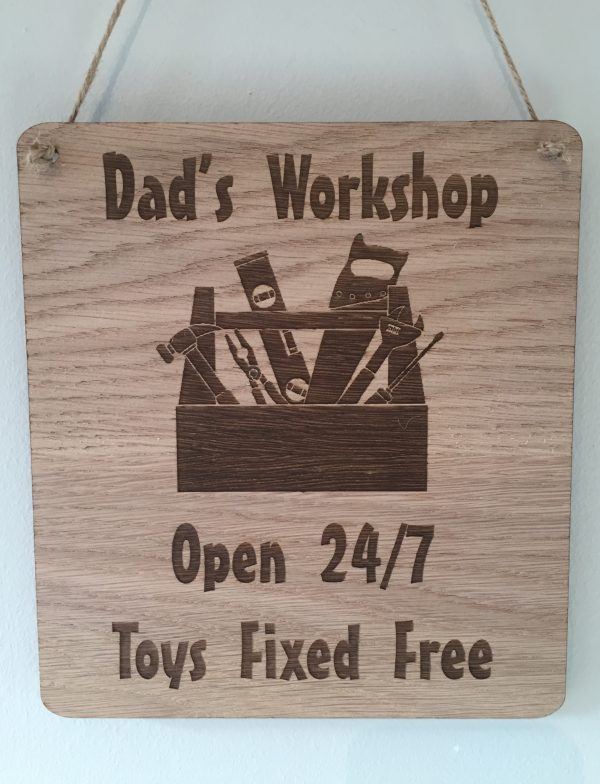 Dad's Workshop Sign - Fathers Day Gift