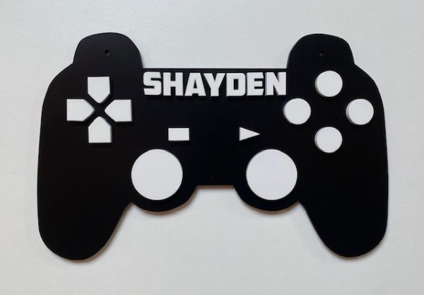 Personalised Games Controller Sign 2