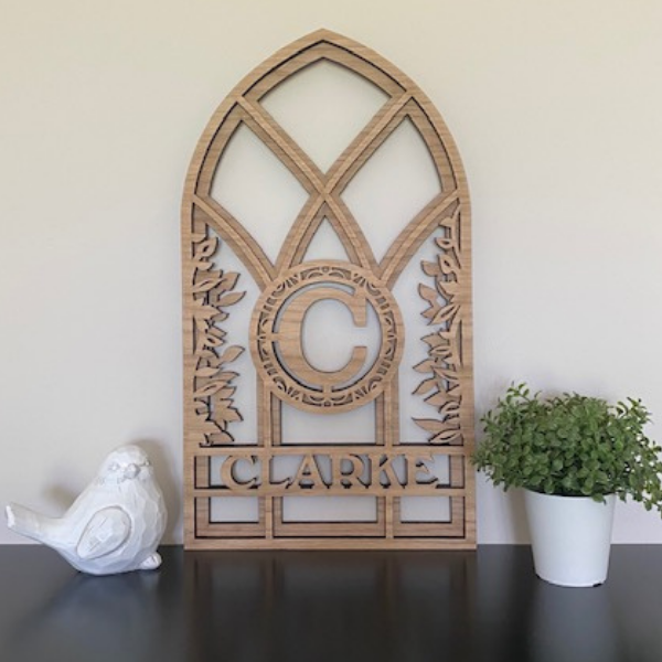 Arch Monogram 2 Layers with Vines
